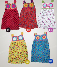 Dress Rajut Anak Warna-warni